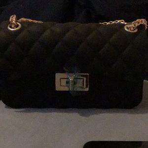 #Purse #pouch #black #goldstraps 🖤✨